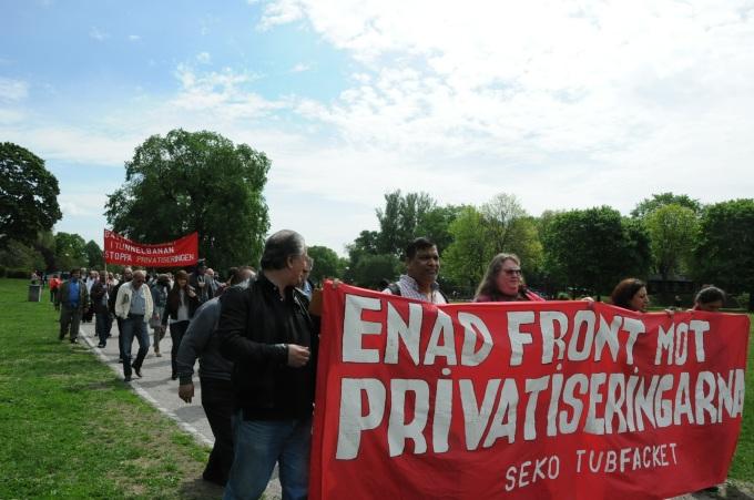 Demonstration metro 27 maj 2013