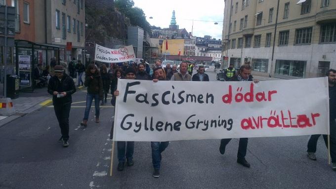 Poreia fasismos 29 september Stockholm