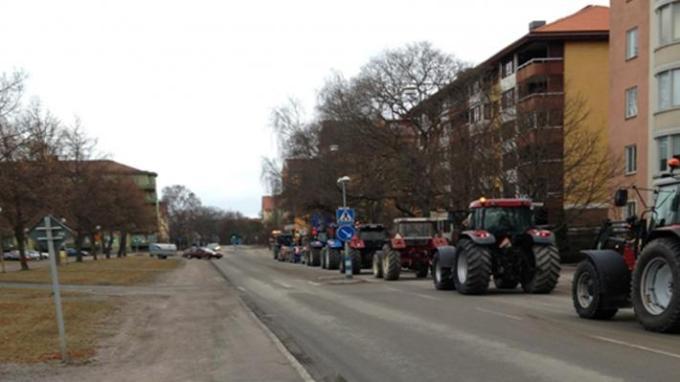 Πορεία τρακτέρ στην Ουπσάλα, Σουηδία