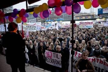 Από τις περσινές μεγάλες κινητοποιήσεις στην Κοπεγχάγη ενάντια στις περικοπές στην Παιδεία